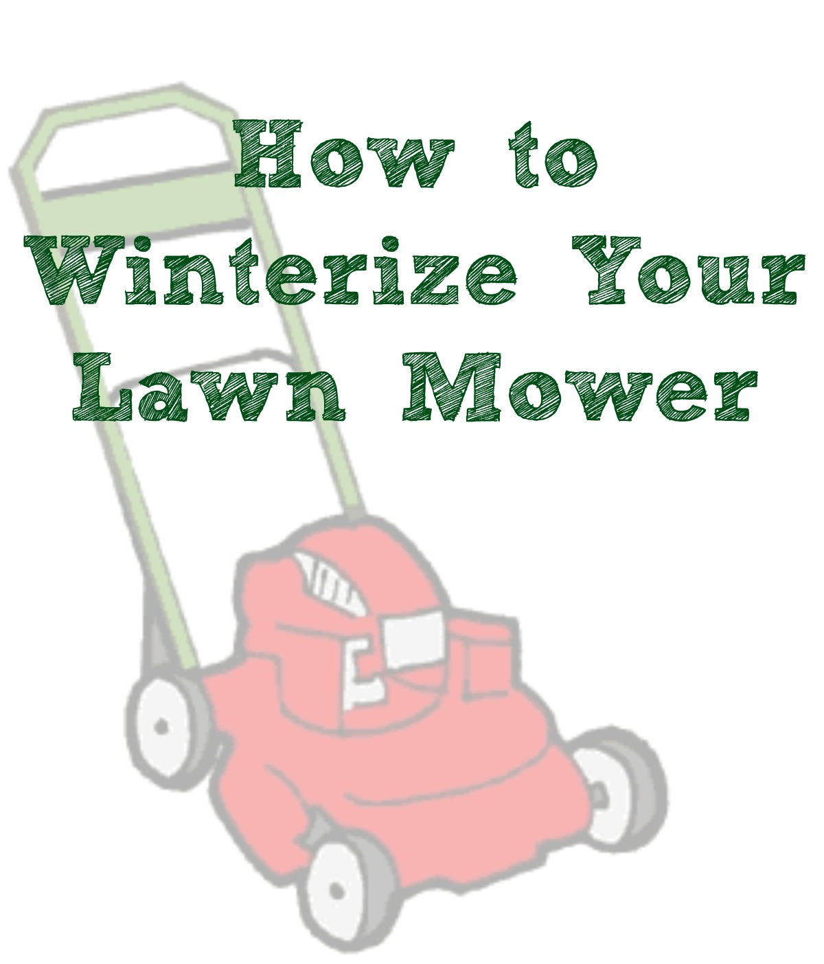 How to Winterize Your Lawn Mower + $100 American Express Giveaway