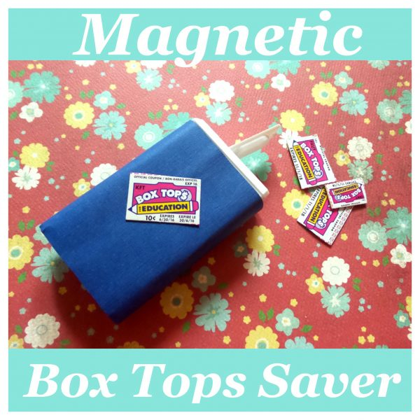 Magnetic Box Tops Saver for keeping track of Box Tops for Education