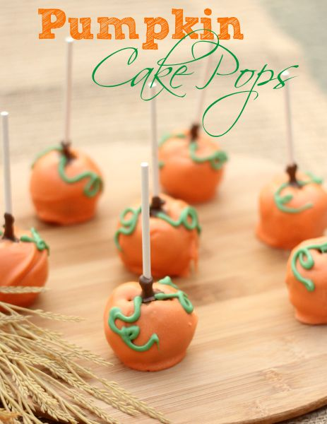 Pumpkin Decorated Cake Pops