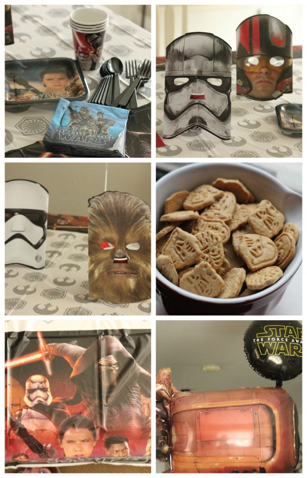 Star Wars Themed Party Supplies for the Food Table