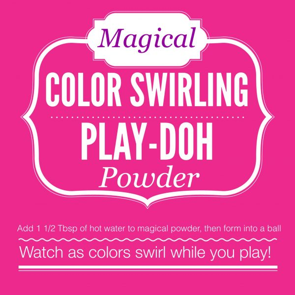 DIY Magical Color Swirling Playdough Powder Gift Tag Printable