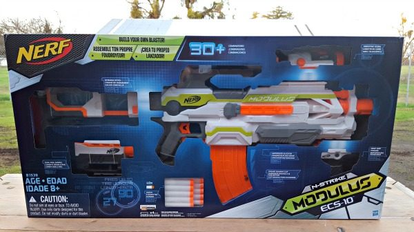 The N-Strike Elite Modulus ECS-10 Blaster is a Nerf Gun Must-Have