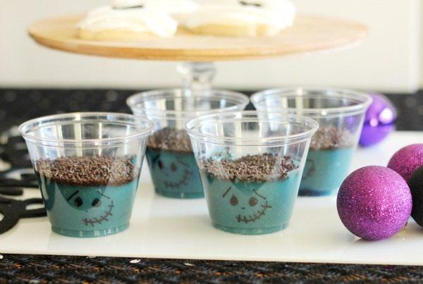 Frankenstein Pudding Cups