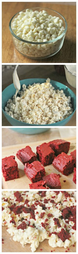Red Velvet Popcorn Process Pictures