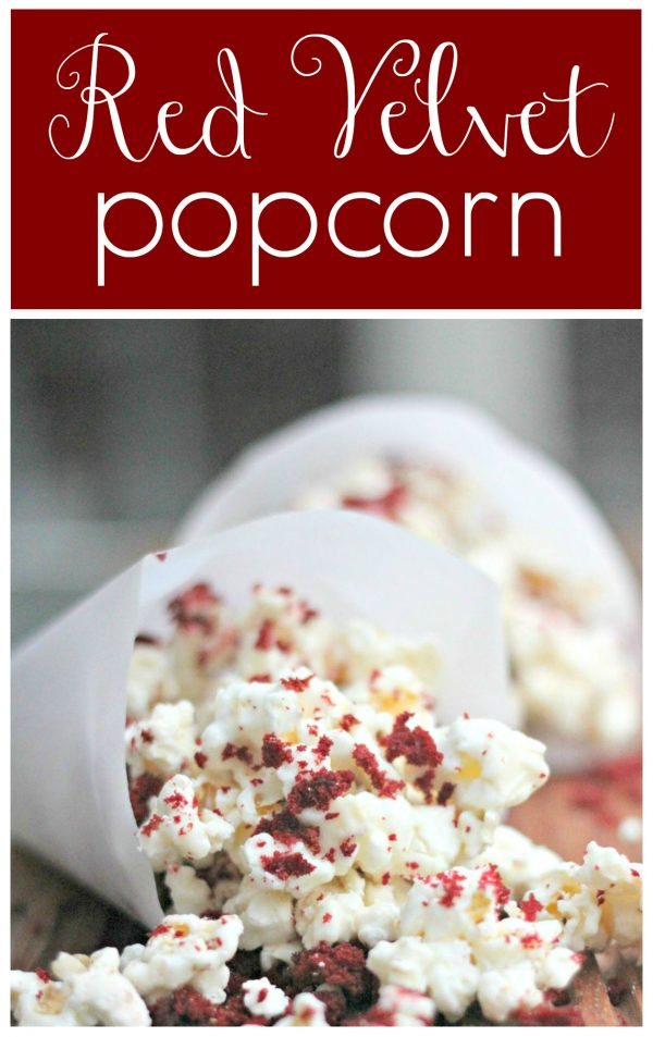 Red Velvet Popcorn is the perfect treat for family movie night