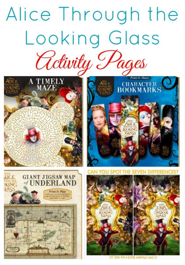 Alice Through the Looking Glass Activity Pages