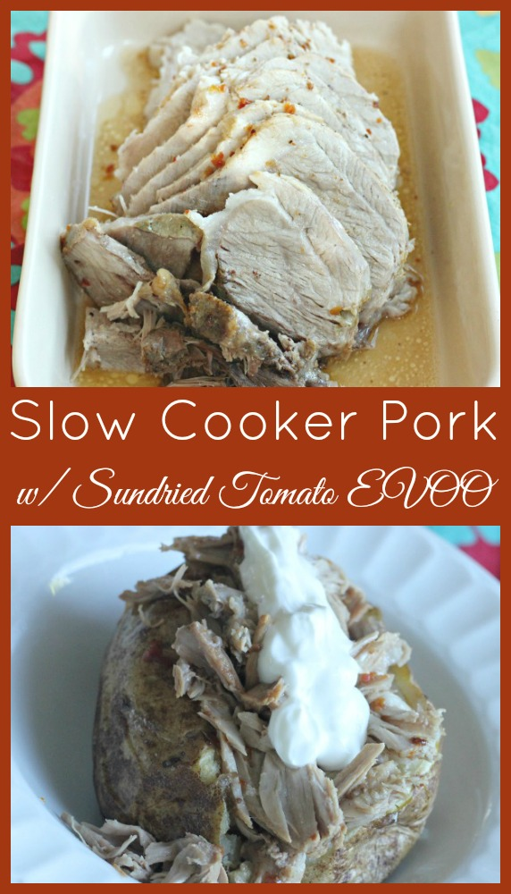 Slow Cooker Pork with Sundried Tomato EVOO