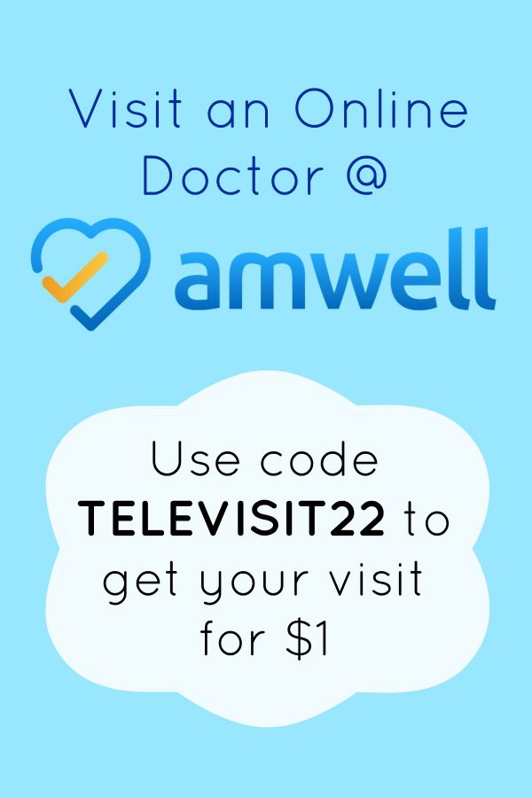 Visit an Online Doctor at Amwell for just $1 with promo code