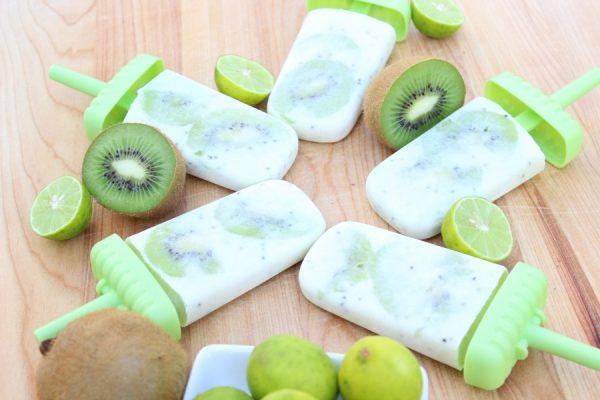 Creamy Kiwi Key Lime Popsicles