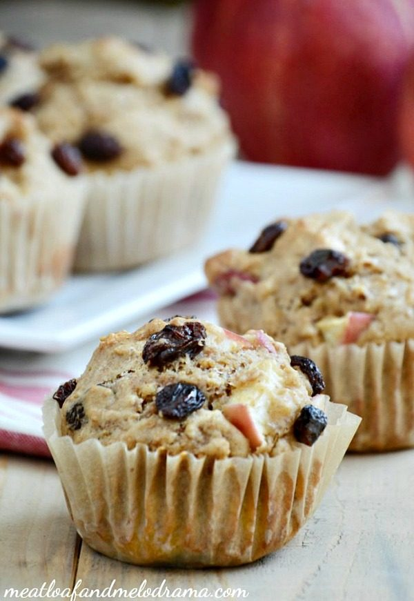 Apple Raisin Muffins from Meatloaf and Melodrama