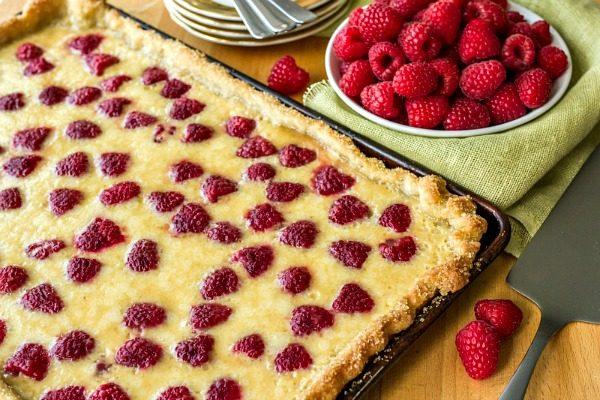 Raspberry Buttermilk Slab Pie from Must Have Mom
