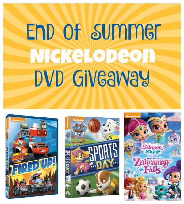 End of Summer Nickelodeon DVD Giveaway