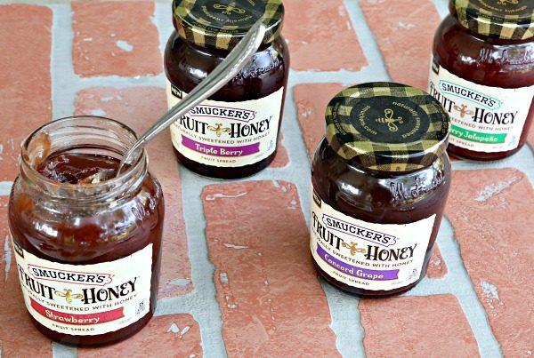 Fruit + Honey Shortbread Squares with Smucker's Fruit+Honey Spreads