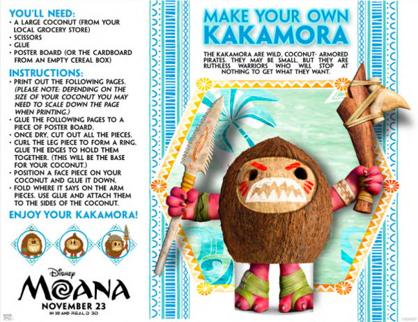 Learn how to make your own Kakamora from Moana with this free printable