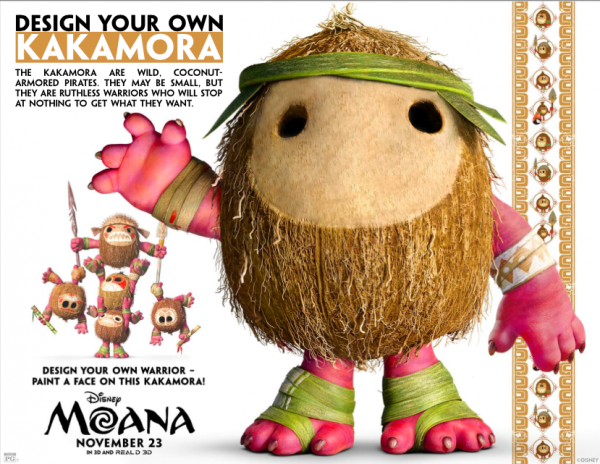 Design your own Kakamora from Moana with free printable