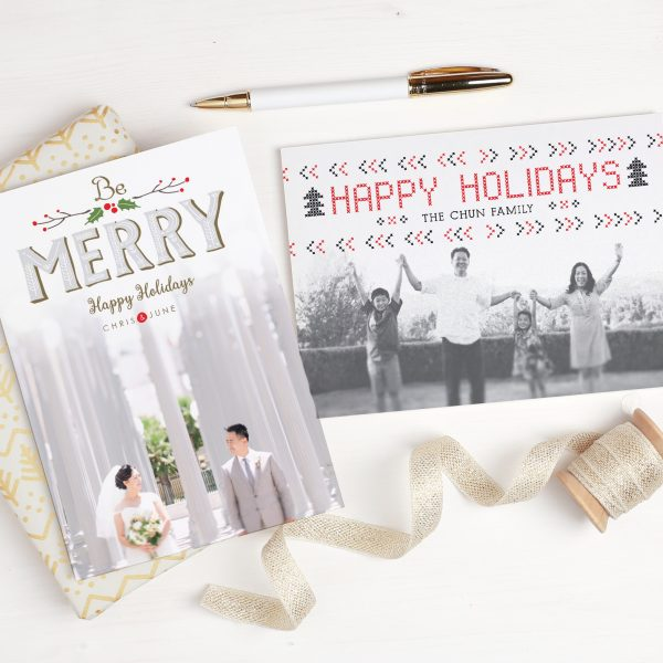 Custom Holiday Cards from Basic Invite