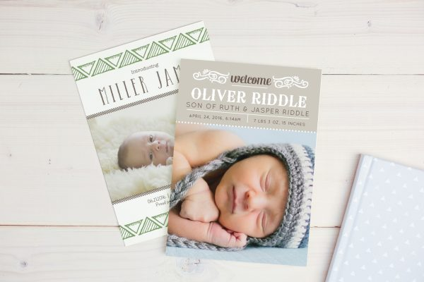 Custom Invitations and Birth Announcements from Basic Invite
