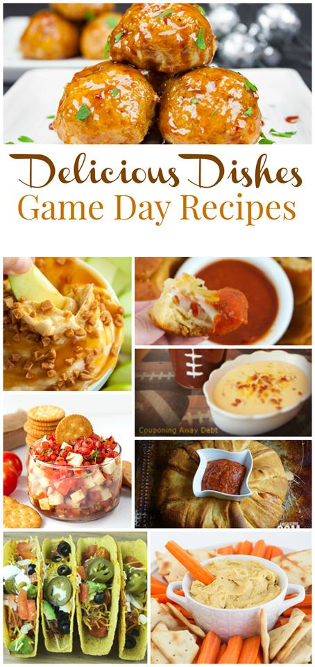 Game Day Recipes for some great finger foods and appetizers