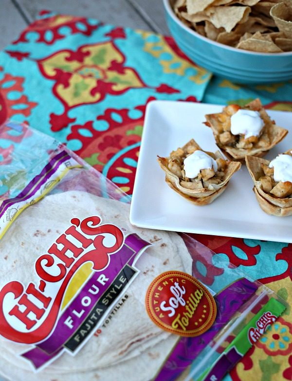 Easy Chicken Taco Cups with CHI-CHI's tortillas