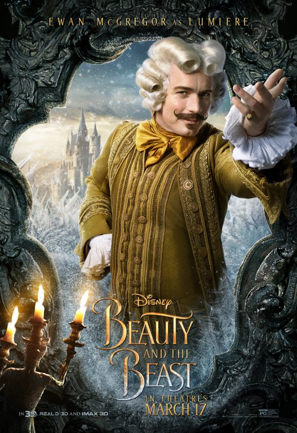 Ewan McGregor as Lumiere in Beauty in the Beast
