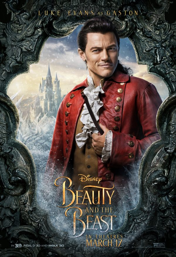 Luke Evans as Gaston in Beauty in the Beast