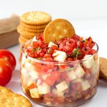 Caprese Salsa from Cookie Dough and Oven Mitt