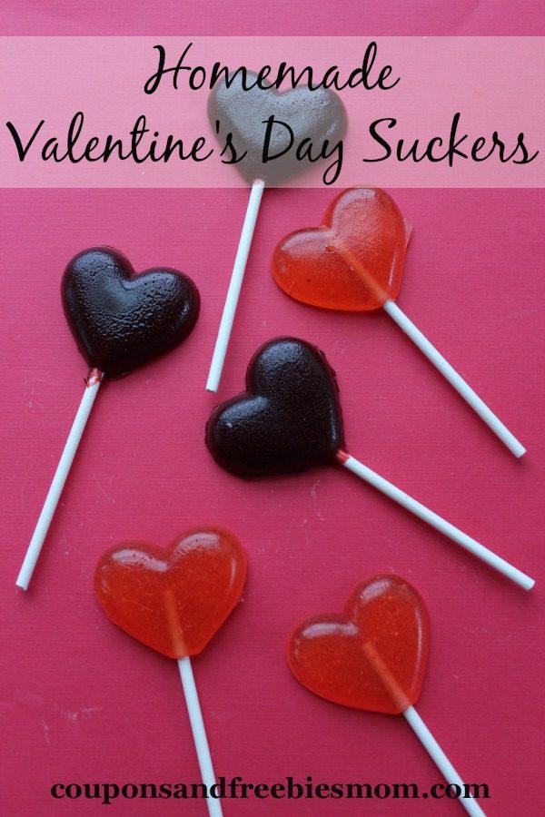 Homemade Valentine's Heart Suckers