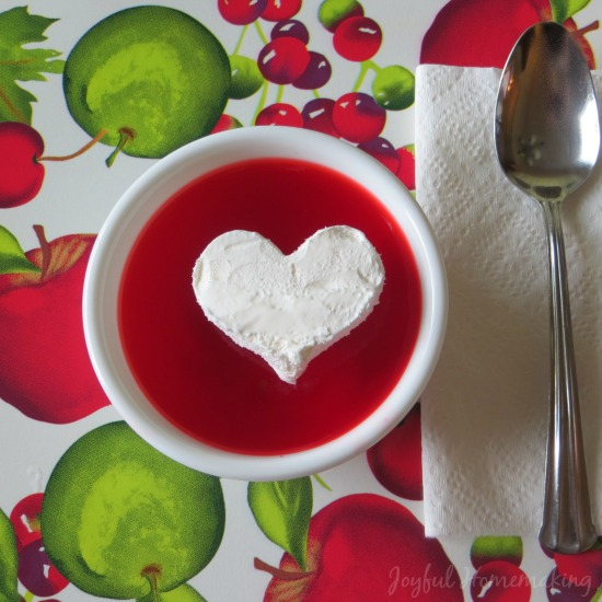 Jello Cool Whip Heart