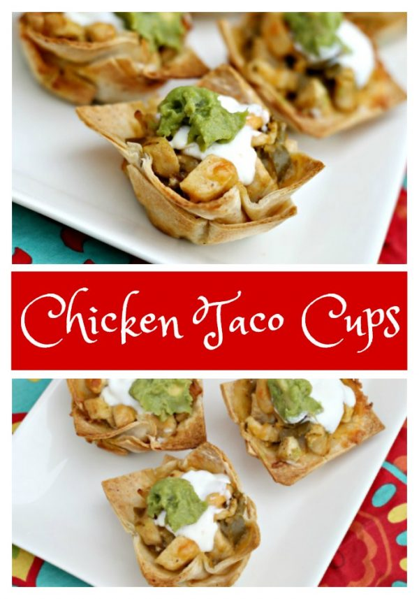 Easy Chicken Taco Cups