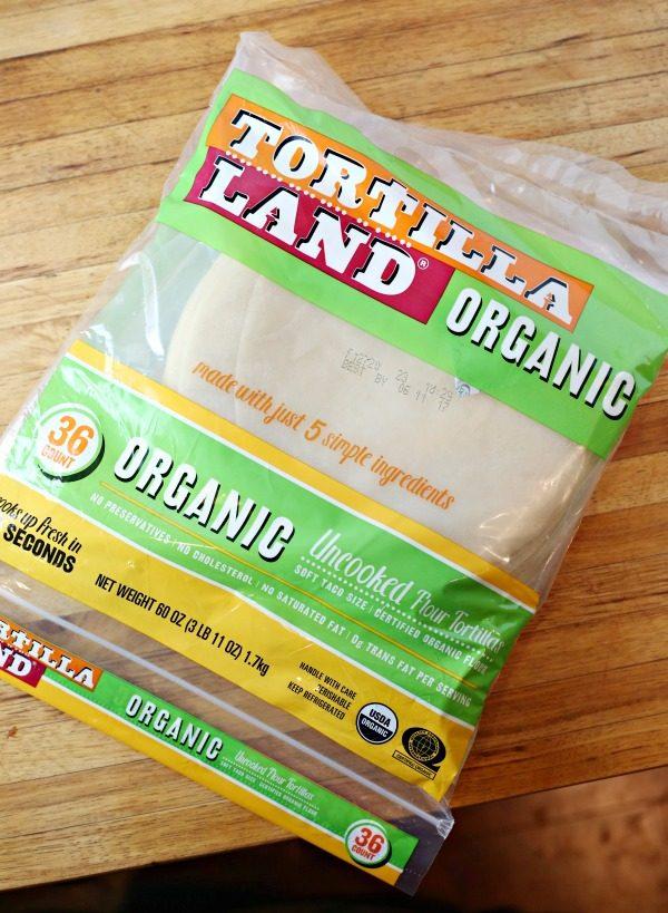 California Breakfast Burrito with TortillaLand Organic Uncooked Flour Tortillas