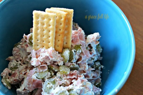 Dill Pickle Ham Dip from A Gracefull Life