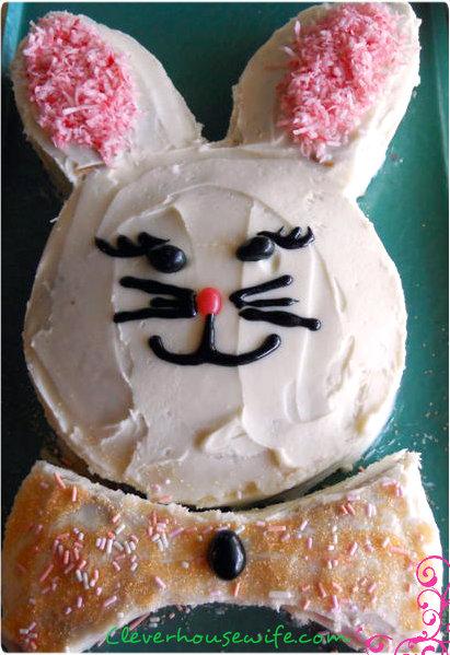 Homemade Banana Bunny Cake