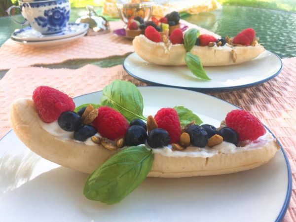 Greek Yogurt Banana Split Breakfast Recipe from Celebrate Woman Today
