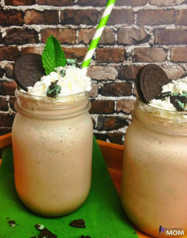 Cookies 'n Cream Mint Chocolate Milkshake from Powered by Mom