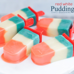 Red, White and Blue Pudding Pops from Simply Designing
