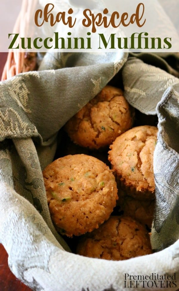 Chai Spiced Zucchini Muffins from Premeditated Leftovers