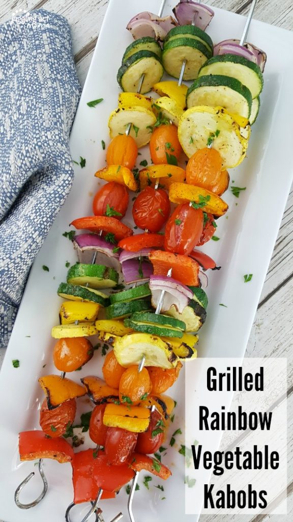 Grilled Rainbow Vegetable Kabobs from Juggling Act Mama