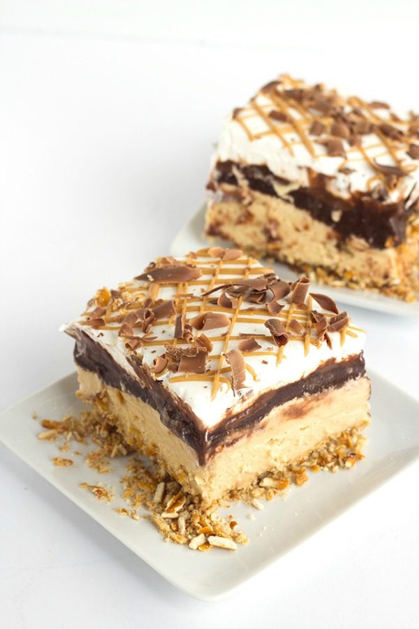 Chocolate Peanut Butter Layer Dessert from Cookie Dough and Oven Mitt