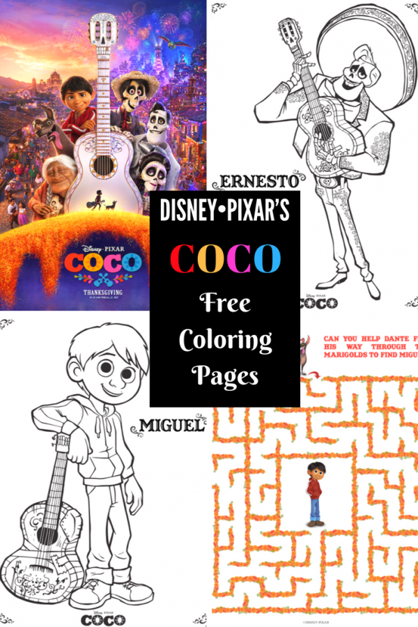 Coco Coloring Pages Official Website Disney Movies