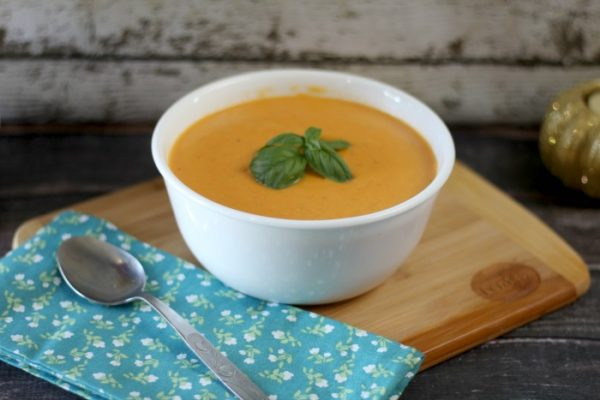 Creamy Red Lentil Roasted Carrot Soup from Jen Around the World