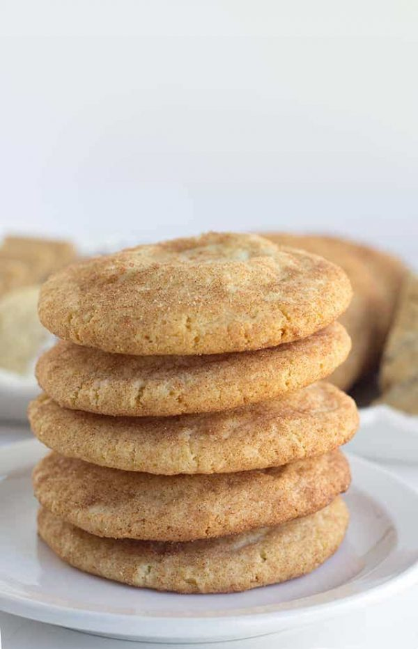 Pumpkin Cheesecake Snickerdoodles from Cookie Dough and Oven Mitt