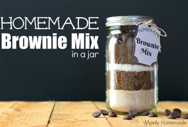 Homemade Brownie MIx from Mainly Homemade
