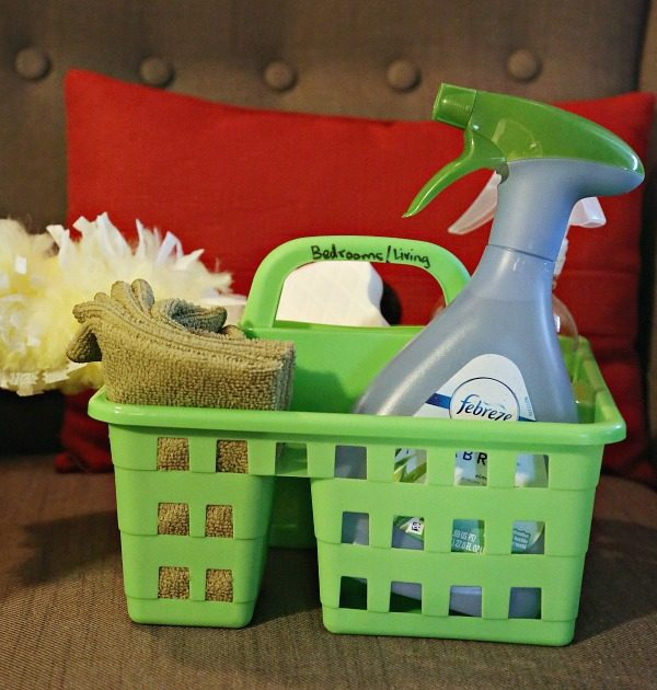 Bedroom cleaning caddy