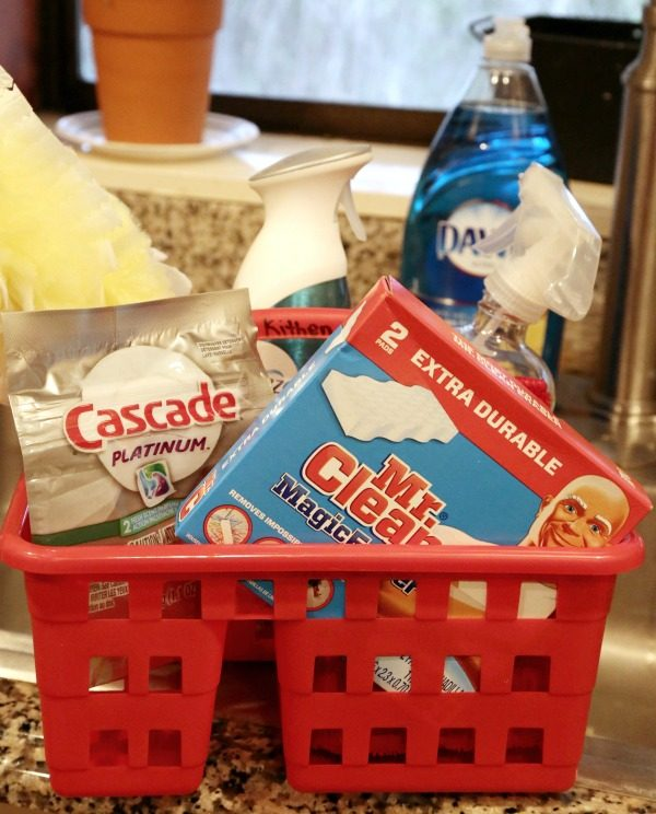 Kitchen cleaning caddy
