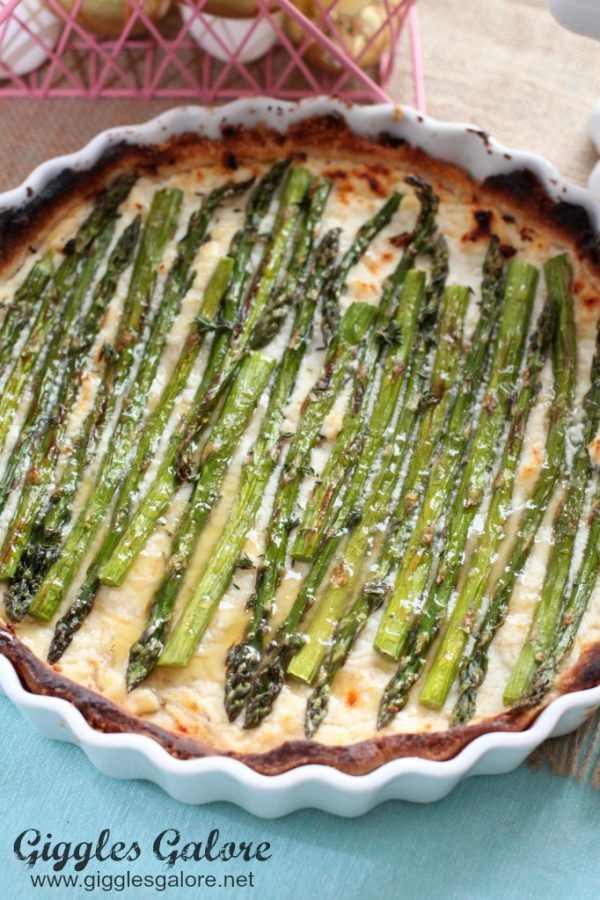 Spring Asparagus Tart with Lemon Sauce from Giggles Galore