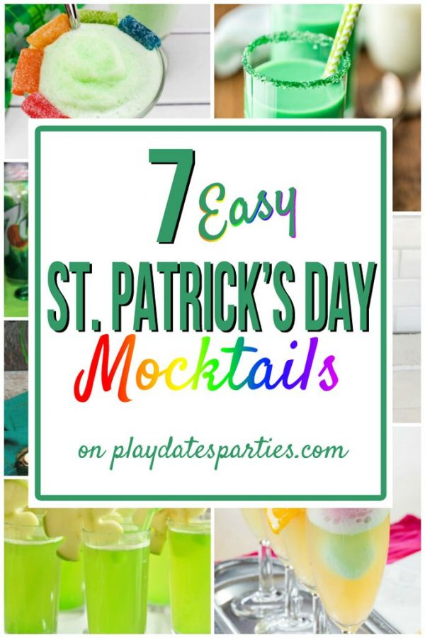 St. Patrick's Day Mocktails for Kids from Play Dates and Parties