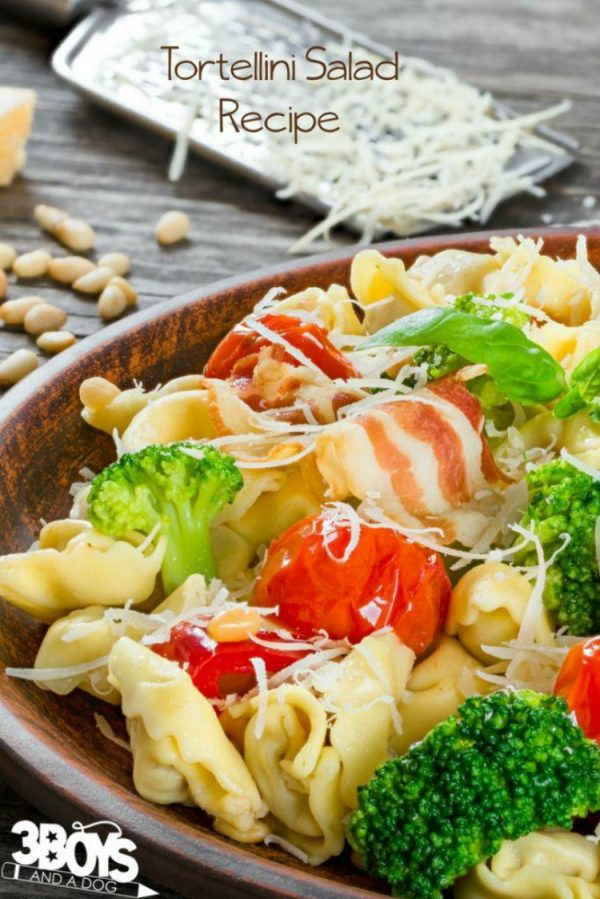 Tortellini Salad with Dijon Vinaigrette from 3 Boys and a Dog