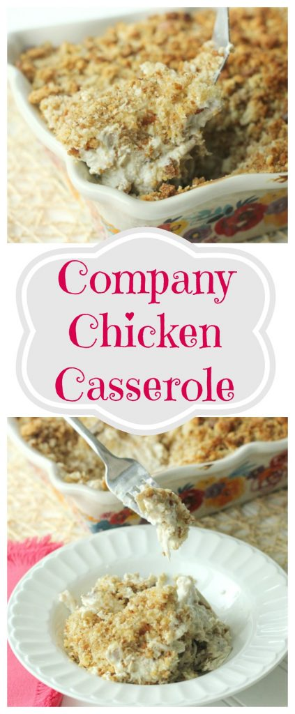 Company Chicken Casserole is one of those mm mm good comfort food recipes that the whole family will love.