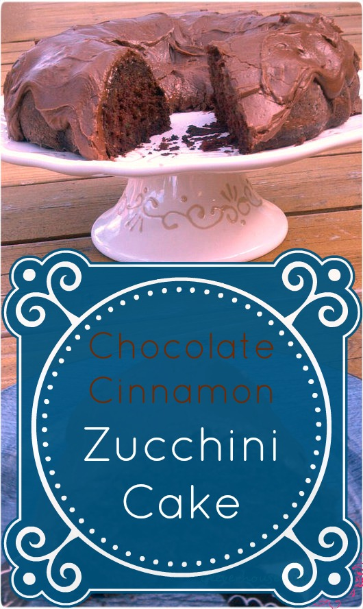 Chocoalte Cinnamon Zucchini Cake - the most moist and flavorful zucchini cake ever!