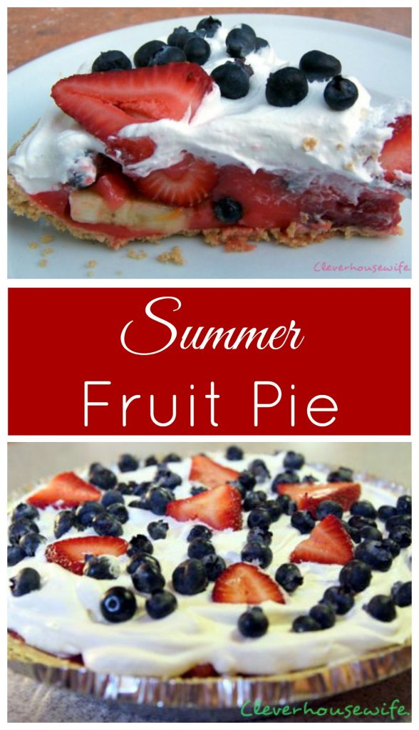 Summer Fruit Pie with a surprising filling!